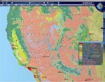 Diercke Globus - Landnutzung im Westen der USA