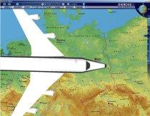 Diercke Globus - ein Flugzeug bedeckt die Hälfte von Deutschland