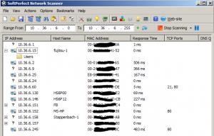 Network Scanner im hiesigen WLAN