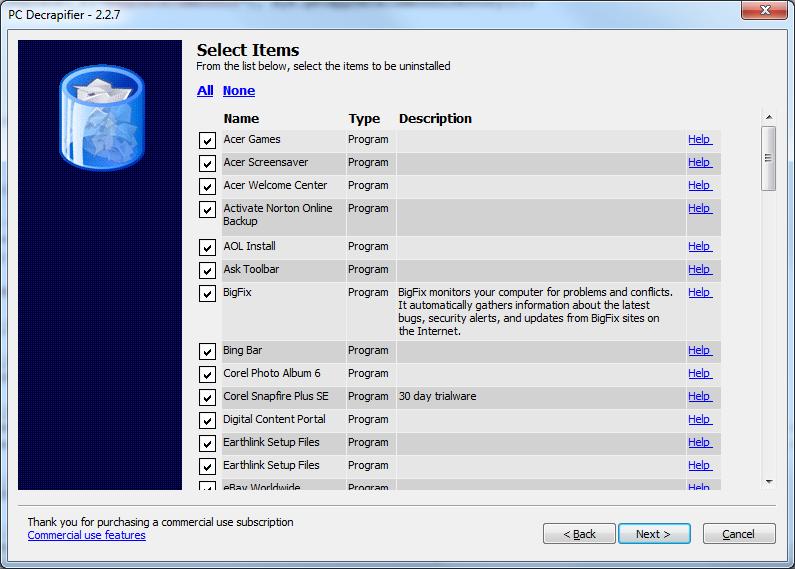 PC Decrapifier Screenshot
