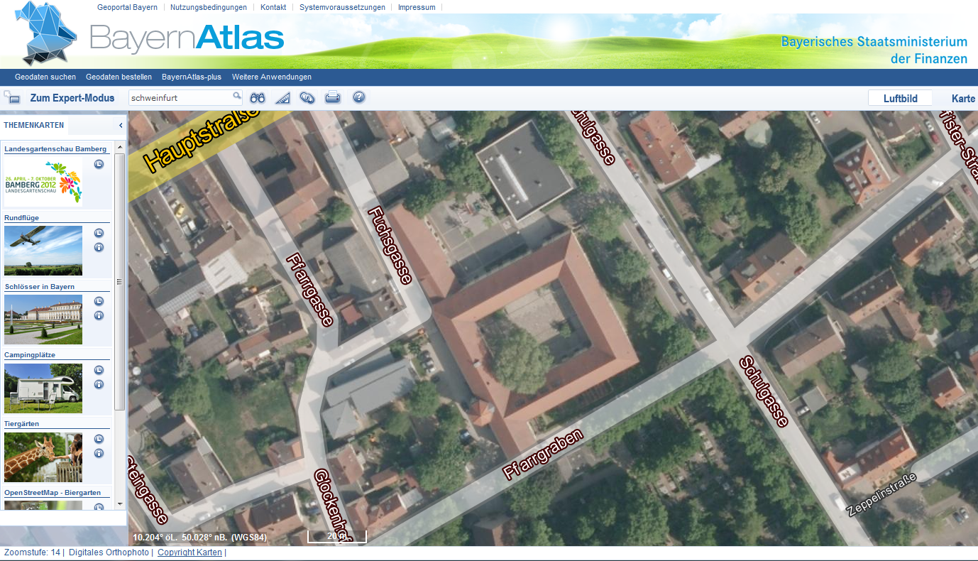 BayernAtlas Screenshot