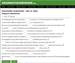 grammatikuebungen.com Screenshot