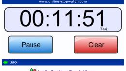 online-stopwatch Screenshot