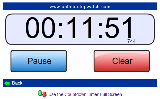 online-stopwatch Screenshot