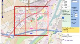 PDF-Map-Server Screenshot - Maßstab 1:1800, 12 Seiten