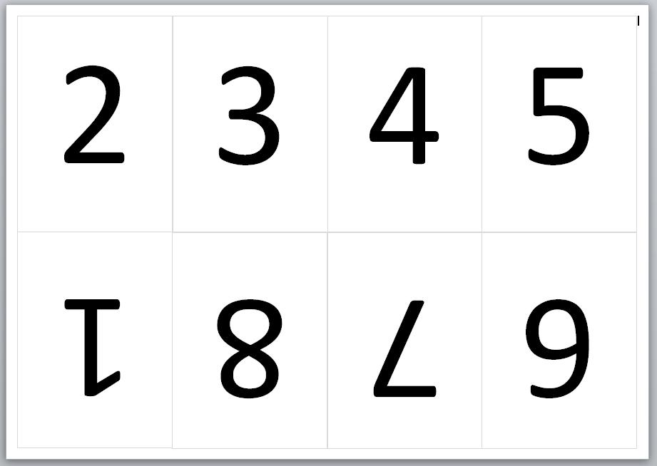 Faltbuch Seitennummerierung