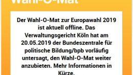 Der Original-Wahl-O-Mat ist momentan offline.